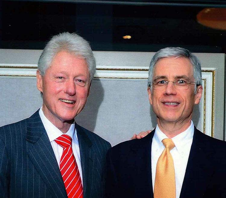 Keith Safian and Bill Clinton